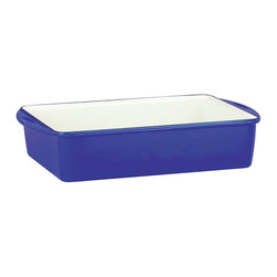 Mario Batali by Dansk - Mario Batali by Dansk Classic 13 x 9 x 3 in. Deep Lasagna/Roaster - Blue - 82678 - Shop for Dishes and Plates from Hayneedle.com! You'll love baking in the Mario Batali by Dansk Classic 13 x 9 x 3 in. Deep Lasagna/Roaster in Blue. This must-have kitchen tool is constructed of durable even-heating cast iron with a cobalt blue enamel outside and glossy white interior that makes it a snap to clean. It's oven-safe as well as safe to use on gas electric induction or ceramic-top ranges. This roaster takes you from oven to tabletop in style.