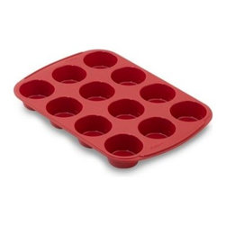 Wilton - Wilton Ultra-Flex Silicone Non-Stick 12-Cup Muffin Pan - Flexible silicone bakeware cooks evenly and quickly while being non-stick and incredibly easy to clean. Silicone resists stains and odors and is heat resistant up to 500° F. For easy storage, bakeware can be folded. Oven, microwave, refrigerator, free