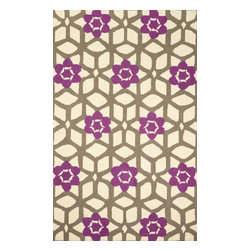 nuLOOM - Contemporary 5' x 8' Purple Hand Hooked Area Rug HK137 - Made from the finest materials in the world and with the uttermost care, our rugs are a great addition to your home.