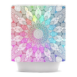 """Kess InHouse - Monika Strigel """"Rainbow Dots"""" Shower Curtain - Finally waterproof artwork for the bathroom, otherwise known as our limited edition Kess InHouse shower curtain. This shower curtain is so artistic and inventive, you'd better get used to dropping the soap. We're so lucky to have so many wonderful artists that you'll probably want to order more than one and switch them every season. You're sure to impress your guests with your bathroom gallery in addition to your loveable shower singing."""