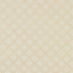 Off White Stitched Diamond Woven Matelasse Upholstery Grade Fabric By The Yard - This material is great for indoor upholstery applications. This Matelasse is rated heavy duty, and is upholstery weight. It is woven for enhanced appearance.