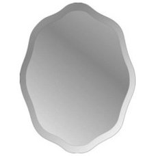 Shop Style Selections Scalloped Oval Mirror at Lowes.com
