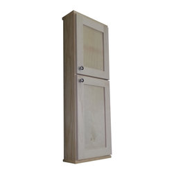 None - 42-inch Shaker Series On the Wall Cabinet - This shaker cabinet mounts on the wall with built in cleats inside for an easy installation. The shaker style doors sit  on concealed hinges while your doors are left undrilled for a knob or handle so you can mount them to open either direction.