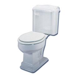 World Imports - World Imports Aberdeen Round Front Toilet in White (ECABRFWH) - Aberdeen Toilet - Round Front - White