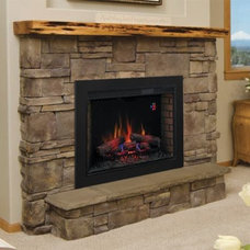Contemporary Indoor Fireplaces by Electric Fireplaces Direct