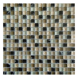 MS International - Orion Blend 12 in. x 12 in. Multi Mesh-Mounted Mosaic Tile - Lot of 5 Sheets - Update your space with the M S International Inc Orion Blend 12 in. x 12 in. Multi Mesh-Mounted Mosaic Tile. This impervious tile has a water absorption of less than 0.5% and is frost resistant to suit your needs. Designed for wall use, this tile is made of a mixture of glass and stone and features an unglazed textured finish. This beautiful tile has a P.E.I. Rating of 0 and a multicolored mosaic design with a slight variation in tone to match your decor.