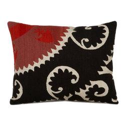 "Metrohouse Designs - ""Consigned"" Vintage Bolinpush Suzani Pillow - Bolinpush Vintage Accent Pillow"