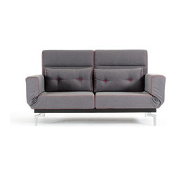 VIG Furniture - Broadway Dark Gray Fabric Sofa Bed in Modern Style - Durable Construction