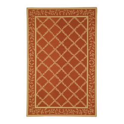 Safavieh - Safavieh Chelsea Hk230E Rust / Gold Area Rug - Designs inspired by both classic European and American Country motifs are found in the area rugs of the Chelsea collection. Hand-hooked to a sturdy cotton backing, these durable rugs are made of 100% wool. Handmade in China, the exclusive Safavieh Chelsea area rug collection is available in a design and color to compliment any decorative style. Select from a wide range of sizes in round, oval, rectangular or runner rug styles.