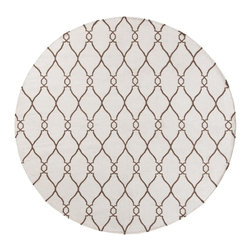 Surya - Surya Fallon Hand Woven Ivory Wool Rug, 9' x 13' - From delicate lattice patterns to boldly colored chevron patterns the Fallon Collection makes a statement in flat weave; from creator Jill Rosenwald known for her beautifully colored, hand-made ceramics. The Fallon Collection's patterns and the hand woven flat weave construction beautifully combine to highlight its simplicity and sophistication. Fresh and fun patterned rugs with a strong designer color palettes. Imported.Material: 100% WoolCare Instructions: Blot Stains