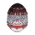 "Godinger Silver - King Louis Ruby Egg Box - Make your dreams hatch with this multipurpose egg box. It will look beautiful anywhere you place it. This crystal Ruby egg box can make a great gift for a collector or crystal lover. Perfect as your desk accessory and just store some of our precious gems or jewelry. Measures approx: 3"" diameter, 3.5"" high."