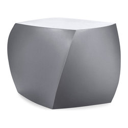 Heller - Frank Gehry Color Cube, Silver - Candy-colored and just as much fun, these twisted cubes of molded plastic are just what you need to brighten up your den, patio or playroom. About 17 inches high, each would make a great stool or side table, or put several around your pool as fun and functional sculptures.