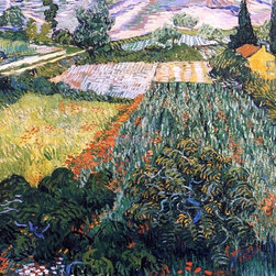 "Vincent Van Gogh A Field with Poppies - 16"" x 20"" Premium Archival Print - 16"" x 20"" Vincent Van Gogh A Field with Poppies premium archival print reproduced to meet museum quality standards. Our museum quality archival prints are produced using high-precision print technology for a more accurate reproduction printed on high quality, heavyweight matte presentation paper with fade-resistant, archival inks. Our progressive business model allows us to offer works of art to you at the best wholesale pricing, significantly less than art gallery prices, affordable to all. This line of artwork is produced with extra white border space (if you choose to have it framed, for your framer to work with to frame properly or utilize a larger mat and/or frame).  We present a comprehensive collection of exceptional art reproductions byVincent Van Gogh."