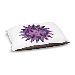 """DiaNoche Designs - Dog Pet Bed Fleece - Purple Maze Sun - DiaNoche Designs works with artists from around the world to bring unique, designer products to decorate all aspects of your home.  Our artistic Pet Beds will be the talk of every guest to visit your home!  BARK! BARK! BARK!  MEOW...  Meow...  Reallly means, """"Hey everybody!  Look at my cool bed!""""  Our Pet Beds are topped with a snuggly fuzzy coral fleece and a durable underside material.  Machine Wash upon arrival for maximum softness.  MADE IN THE USA."""
