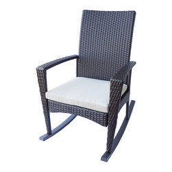 Dola - Outdoor Wicker Rockers, Light Beige (Ivory) - Bring back a touch of nostalgia with this classic rocking chair with a modern twist.