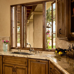 Beautiful Custom Wood Kitchen Casment Windows -