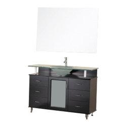 "Design Element - Design Element DEC015C Huntington 48"" Single Sink Vanity Set in Espresso - Design Element DEC015C Huntington 48"" Single Sink Vanity Set in Espresso"