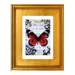 Flutterby Kiss 9, Fine Art Print - A beautiful limited edition fine art print comes signed, matted, and framed. Direct from the artist this piece features a stunning high quality hand made gold wood frame. The high quality print is produced by the artist in very limited numbers on professional archival paper. Less then 250 prints are made. Guaranteed to last, This is a piece you will love to own. Simply stunning, the photos do not do it justice. Total size of the frame is 12.5 x 10.5 x 1.5 inch deep. This is a great way to start or add to an existing collection!
