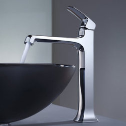 "Kraus - Kraus KEF-15200-PU10CH Chrome Exquisite Decorum Single Hole Vessel - Product Features:Fully covered under Kraus  limited lifetime warrantyAll-brass faucet constructionHigh-quality, corrosion and rust resistant triple-plated finish - finish covered under lifetime warrantySingle handle operationTall design for use with vessel (above-the-counter) sinksADA compliantLow lead compliant - complies with federal and state regulations for lead contentDesigned to easily connect to standard US plumbing supply bibsExtra secure mounting assemblyAll necessary mounting hardware includedProduct Technologies and Benefits:Precision Kerox Cartridges: The cartridge's job is to deliver smooth handle operation and water flow, throughout hundreds of thousands of uses, without ever leaking – all while under a punishing 60 pounds-per-square-inch of pressure. For these reasons, it is quite literally what ""makes or breaks"" the faucet. Kraus understands this, so they take no shortcuts here, importing their cartridges from the world's leading manufacturer of high-end precision ceramic disc cartridges, Kerox in Hungary.Swiss-Made NeoPerl Aerators: Aerators are possibly the most under-appreciated component within faucets. Not only do they soften the stream (preventing splashing), but they also control the straightness, diameter, overall delivery of water. Fortunately, like their cartridges, Kraus recognizes this and chooses to takes no gambles here – they import their aerators from NeoPerl in Switzerland, the world's leading manufacturer for high-end and specialty aerators.Heavily Certified: Kraus has gone to great lengths to be able to provide you, the homeowner, the rest-easy satisfaction knowing that your faucet is certified and listed by all the major product testing boards in the US and Canada. This means that this faucet is deemed safe to use and"