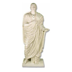 Orlandi Statuary - Roman Lucius Cornelius Balbus Statue Multicolor - F9001LUCIUSCORNELIUS - Shop for Statues and Sculptures from Hayneedle.com! This statue's realistic form and dignified robes give Roman Lucius Cornelius Balbus Statue a statesmanlike appearance. The detail in his face and robes show him to be a statue of quality and distinction. This statue measures a towering height of 82 inches and is constructed of durable weather-resistant fiberglass resin making it ideal for gardens or other outdoor settings.About Orlandi StatuaryBorn in 1911 when Egisto Orlandi traveled from Lucca Italy to Chicago Illinois Orlandi Statuary quickly set the standard for excellence in their industry. Egisto took great pride in his craft and reputation and which is why artists interior designers and museums relied upon the careful details and impeccable quality he demanded. Over the years they've evolved into a company supplying more than statuary. Orlandi's many collections today include fiber stone for the garden religious statuary fountains columns and pedestals. Their factory and showroom are still proudly located in Chicago where after 100 years they remain an industry icon.