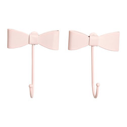 2-Pack Hooks, Light Pink - These would add the perfect feminine touch to a space. I can picture them anywhere from a girl's room to a vanity area.