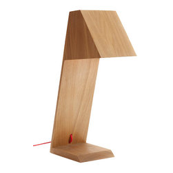 All Wood Desk Lamp - This stunning desk lamp will give you a nice spot of light without taking up too much space. All wood body and shade combined together without any nails. It is incredible spirit of modern design and tranditional craft.