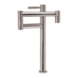 Whitehaus - Whitehaus Whpf0501-Bn Decohaus Pot Filler - Decohaus deck mount pot filler with lever handle and single swing arm