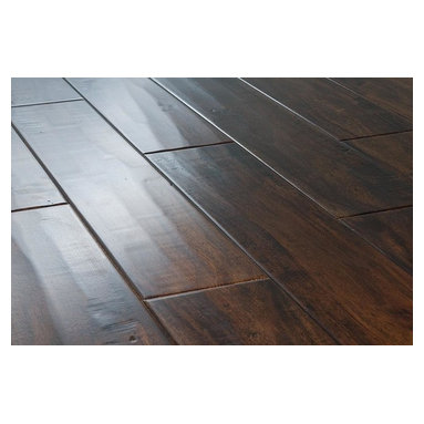 """Vanier - Vanier Engineered Hardwood - Acacia Collection - [18.6 sq ft/box] - Acacia Handscraped Walnut / 4 7/8"""" / 5/8"""" / Random Lengths -Vanier's line of acacia engineered hardwood flooring offers a high-quality semi-gloss finish on a richly textured and warmly colored layer of real hardwood, strengthened by 7 coats of Treffert aluminum oxide finish. This excellent line of flooring features a micro-beveled edge design.    Vanier has designed an 8 ply constructed, 2 and 3 mm top-layered engineered floor that will adorn any suitable interior for years to come. It is also constructed with a precision tongue & groove joint for a seamless installation.    Complete with a residential 25 year finish and lifetime structural warranty, confidence in durability and look are a given. Vanier's line of engineered hardwood floor offers toughness and elegance in equal measure."""