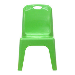 Flash Furniture - Flash Furniture Stackable School Chair in Green - Flash Furniture - Stacking Chairs - YUYCX011GREENGG - This chair is the perfect size for Preschool to Kindergarten sized children. Having young children sit in a chair that is