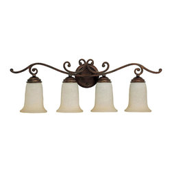 Capital Lighting - Capital Lighting 1484BB-251 Burnished Bronze 4 Light Vanity Fixture - Capital Lighting 1484BB-251 4 Light Cumberland Bathroom Light, Burnished Bronze This Capital Lighting product is offered in a burnished bronze finish.