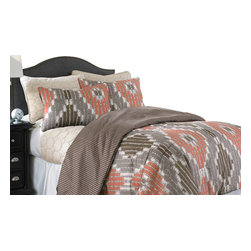 Sheila 6-piece Comforter/Coverlet set Queen Chocolate - Update your bedroom with a fresh new look in the PCT home collection. This six-piece set transforms barren mattresses into sumptuous sleeping palaces thanks to a construction of fine polyester-filament yarns, which are renowned for being softer than a pile of puppies. Each piece in the set is reversible.