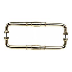 Top Knobs - Normandy Back to Back Door Pull - Polished Brass (TKM840-12 pair) - Normandy Back to Back Door Pull - Polished Brass