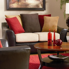 contemporary love seats by BuySectional.com