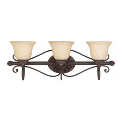 Triarch International - Triarch 25692 Jewelry Harvest Bronze 3 Light Vanity - Triarch 25692 Jewelry Harvest Bronze 3 Light Vanity