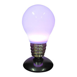 Creative Motion - Color-Changing LED Light Bulb Lamp With Remote Control - Keep your bright ideas near with this unique Color-Changing Light Bulb Lamp! The LED lights change color, which you can control with a remote. It's the perfect addition to your room or office - wherever your best ideas strike up!