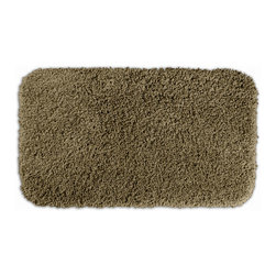 None - Serenity Taupe Bath Rug - Luxuriate in the deep pile of the Serenity bath and spa collection. The taupe rug is created from durable, machine-washable nylon and features non-skid latex backing for safety.