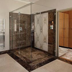 Frameless Shower Doors, Frameless Glass Enclosures - Fully frameless shower door