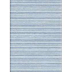 Jaipur Rugs - Flat Weave Stripe Pattern Blue Wool Handmade Rug - CC03, 2.6x8 - Fashion-forward color and a soft texture highlight the relaxed sophistication of the Coastal Living Dhurries Collection. Ideal for any casual lifestyle, the boldly striped, flat-woven pieces are easily cleaned - ideal for lounging after a day spent at the beach.
