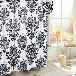 Other Brands - Carnation Home Fashions Ez On Grommet PEVA Shower Curtain - SCEZ-EVA/BH/16 - Shop for Shower Curtains from Hayneedle.com! A bold damask pattern and smart built-in PVC hooks make this Carnation Home Fashions Ez On Grommet PEVA Shower Curtain as charming as it is handy. It's made of water-repellent 6-gauge PEVA material that is free from PVCs and eliminates the need for a shower curtain liner.About Carnation Home FashionsYour home your style Carnation Home Fashions believes in this motto. That s why this home fashions company offers a wide range of on-trend and classic products designed for style and convenience. Perfect for matching today s busy lifestyles their bath products meet your needs in style. Carnation Home Fashions is based in Newburgh New York.