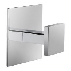 Windisch - Square Chromed Brass Bathroom Hook - Sleek square wall mounted bathroom robe, clothes, or towel hook.