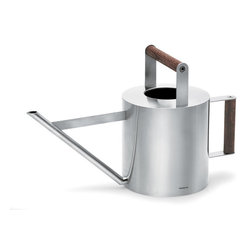 Blomus - Verdo Watering Can - Small - Add the warmth of wood to perfect design and you have the Verdo watering can. Ergonomically correct in every sense of the word, this may become one of your favorite indoor/patio gardening tools.
