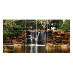 Picture-Tiles, LLC - Waterfall Photo Kitchen Bathroom Tile Mural  18 x 36 - * Waterfall Photo Kitchen Bathroom Tile Mural 2083