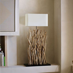 Branches Floor Lamp - Bring the beach indoors. With its weathered branch base, this large-scale floor lamp adds modern, naturalist style to every place, from beach houses to urban lofts. .
