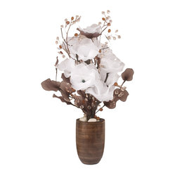 The Firefly Garden - Snow in Summer floral arrangement - Capture ethereal beauty in your home with this otherworldly arrangement of transparent blossoms, crystal spray stems and LED lighting. Set in a mango vase for an utterly sophisticated look, this stunning arrangement is floral decoration at its most innovative and lovely.