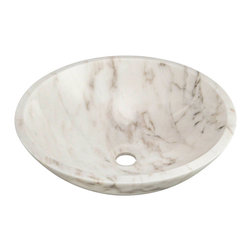 "MR Direct - MR Direct 850W White Granite Vessel Sink - The 850-White granite vessel sink is made from natural granite. The sink is carved from a large block of granite and hand-polished for a smooth, easy to clean finish. Since granite is a natural stone, the details will vary in color and pattern from sink to sink. The overall dimensions for the 850-White are 16 1/2"" Diameter x 5 1/2"" Height thick and an 18"" minimum cabinet size is required. As always, our stone sinks are covered under a limited lifetime warranty for as long as you own the sink."
