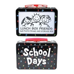 "WL - 4 x 6 Inch Black Lunch Box/Photo Frame with ""School Days"" Design - This gorgeous 4 x 6 Inch Black Lunch Box/Photo Frame with ""School Days"" Design has the finest details and highest quality you will find anywhere! 4 x 6 Inch Black Lunch Box/Photo Frame with ""School Days"" Design is truly remarkable."