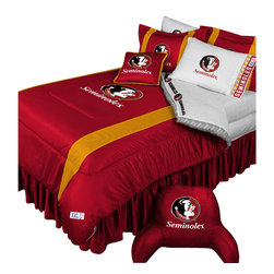 Store51 LLC - NCAA Florida State Comforter Pillowcase College Bedding, Queen - Features: