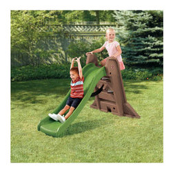 Step2 - Naturally Playful Big Folding Slide - Features: -Sturdy slide combines outdoor textures.-High side rails and sure-grip handles.-Slide opens for play or conveniently folds for storage and transport.-Suitable for 2 to 5 years.-Frame material: ABS Plastic.-Slide type: Wave Slide.-Wipe clean with soap and water.-Includes: Ladders, slide.-Durable, double-wall polyethylene construction.-Naturally Playful collection.-Collection: Naturally Playful.-Distressed: No.-Country of Manufacture: United States.Dimensions: -Slide length: 57'' (1.45 m).-Overall Dimensions: 41'' H x 64'' W x 17'' D, 30 lbs.-Overall Height - Top to Bottom: 41.-Overall Width - Side to Side: 41.-Overall Depth - Front to Back: 17.-Overall Product Weight: 30 lbs.Assembly: -Not included: Tools for assembly.