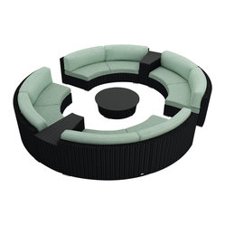 Urbana Eclipse 7-Piece Round Sectional Set, Spa Cushions