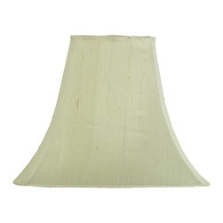 Jubilee Collection - Large Shade - Plain - Light Green - Material: silk, metal. 5 x 12 x 9 in.